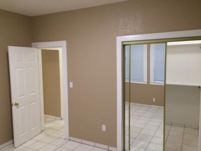 bedroom closet to hallway